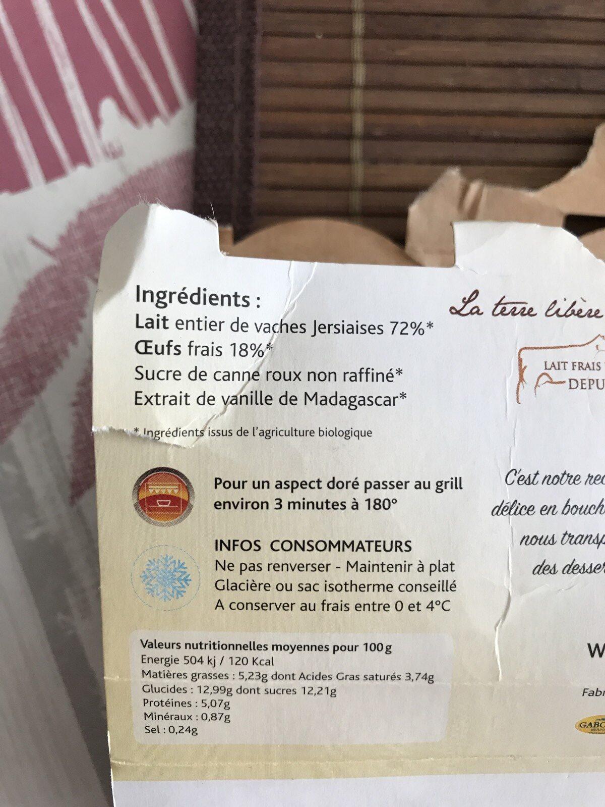 Oeufs Au Lait - Ingredients - fr