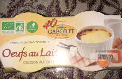 Oeufs Au Lait - Nutrition facts - fr