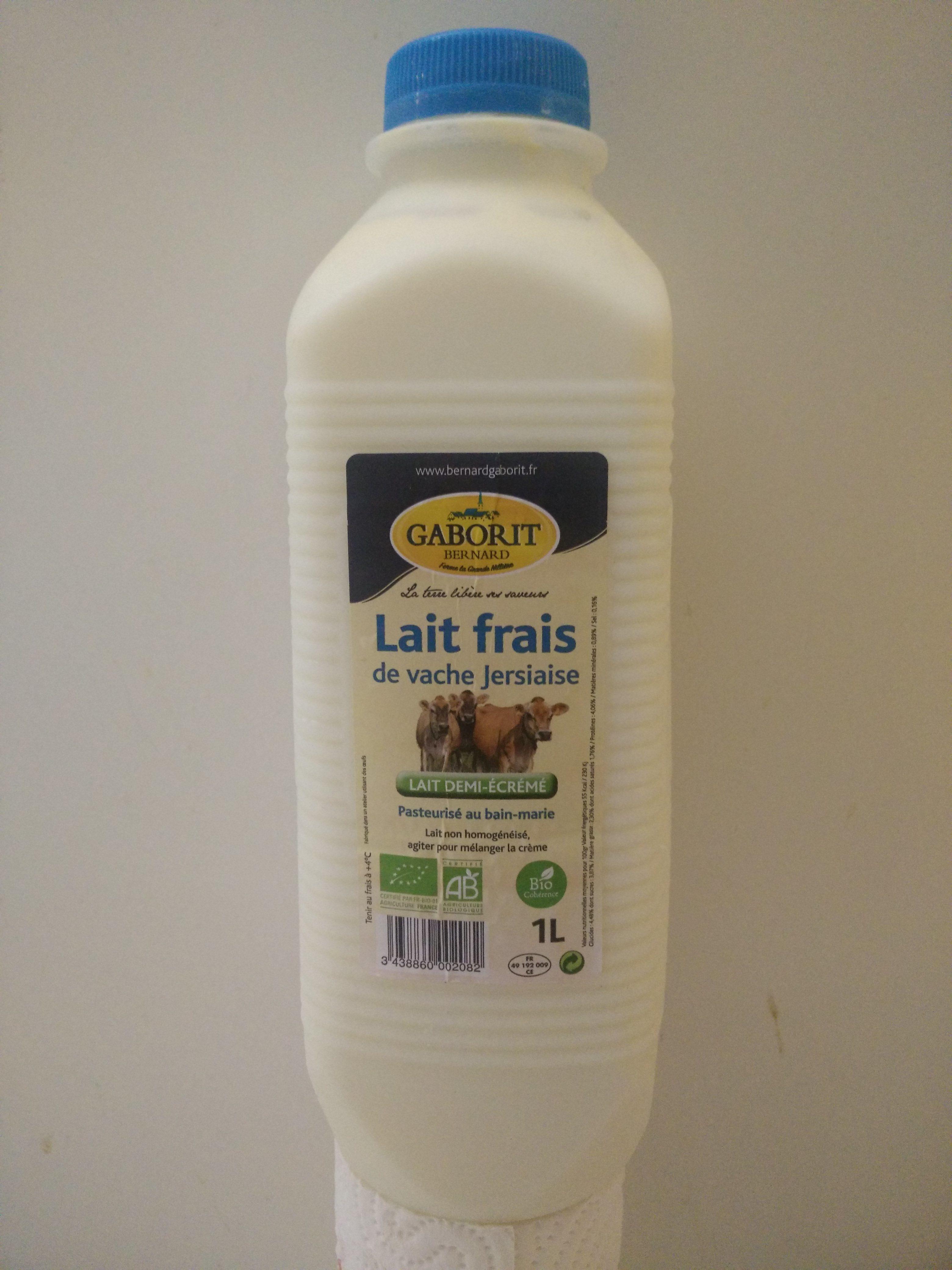 Lait frais de vache jersiaise pasteurisée au bain-marie - Product - en