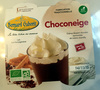 Choconeige, crème dessert chocolat surmontée de crème chantilly sans œufs - Product