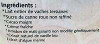 Choconeige - Ingredients - fr