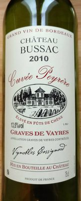 Cuvée Peyrère Graves de Vayres 2010 - Produit