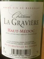 Haut-Médoc 2013 - Ingrediënten - fr