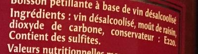 Rosé sans alcool - Ingrediënten - fr
