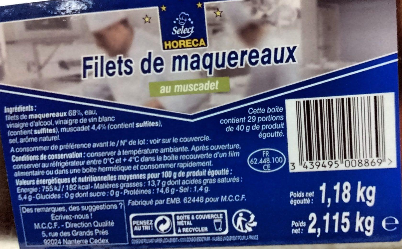 Filets de maquereaux au muscadet - Produit