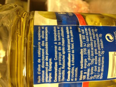 Huile d'olive vierge extra, extraite à froid - Ingrédients - fr