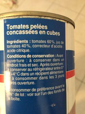 Tomates pelees - Ingrédients - fr