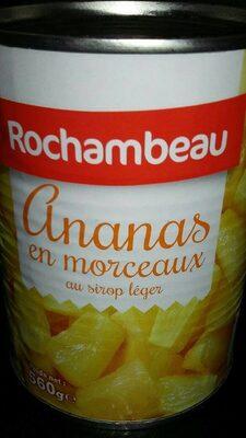 Ananas en morceaux au sirop léger - Produit - fr