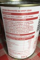 Litchis au sirop léger - Ingrediënten - fr