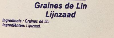 Graines de Lin - Ingredients - fr