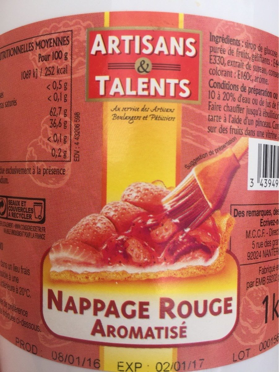 Nappage rouge aromatisé - Product