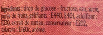 Nappage rouge aromatisé - Ingrediënten