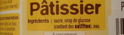 Fondant pâtissier - Ingrediënten