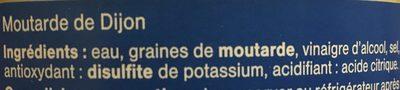 Moutarde De Dijon 850 g - Ingrédients - fr