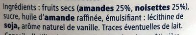 Praliné - Ingredients
