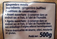 Gingembre moulu - Ingredients - fr