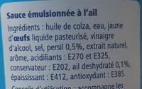 Sauce pitta - Ingrédients - fr