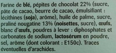 Cookies nougatine - Ingrédients - fr