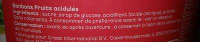 Collectivités: Bonbons D Accueil Acidulés - Ingrediënten