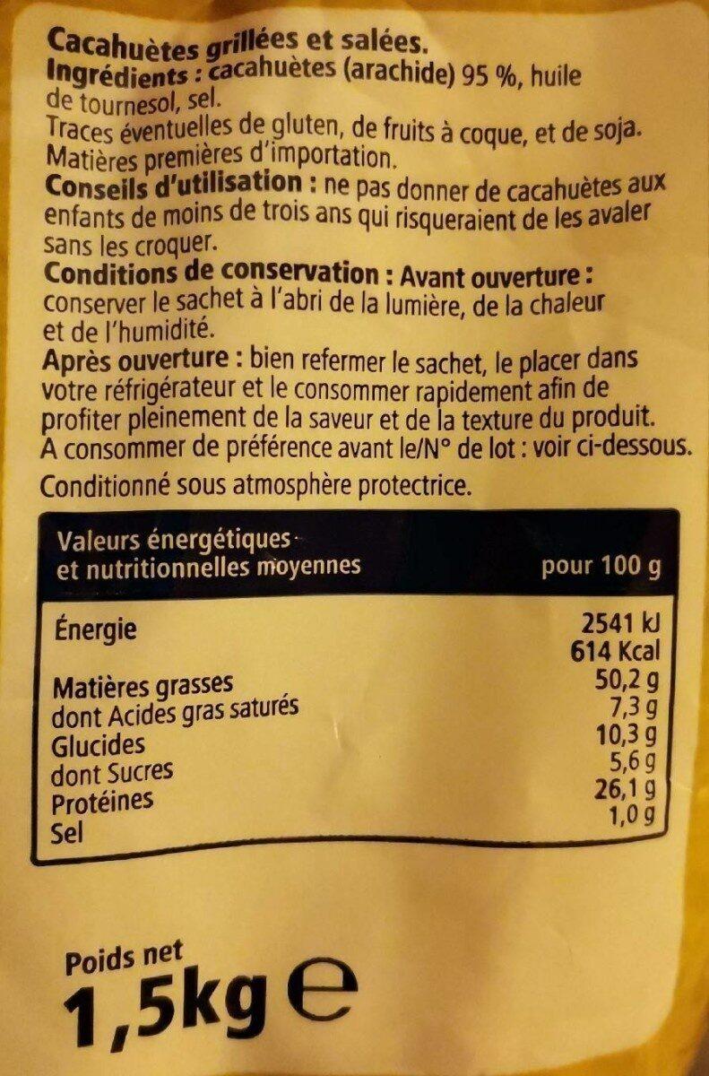 Cacahuète - Informations nutritionnelles - fr