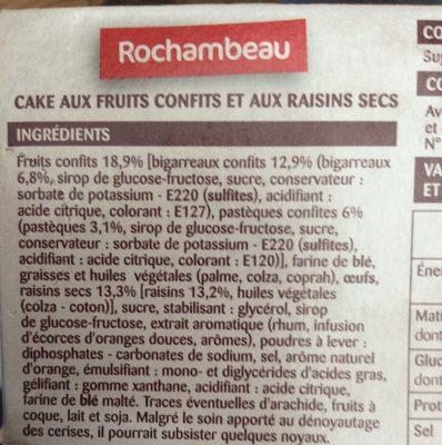 Cake Aux Fruits - Ingrédients - fr