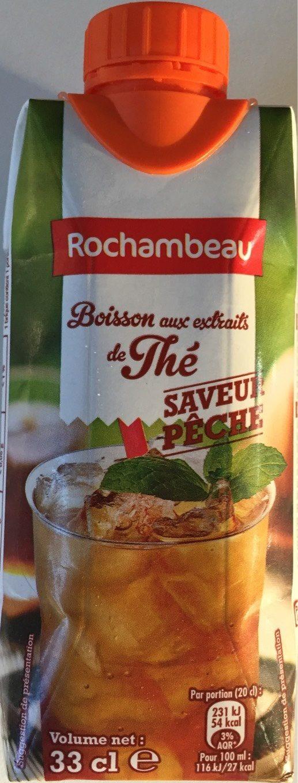 Boisson aux extraits de thé pêche - Product