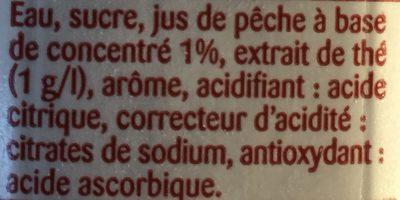 Boisson aux extraits de thé pêche - Ingredients