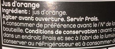 pur jus d'orange - Ingrediënten - fr