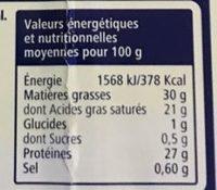 Fromage en tranchettes spécial sandwich - Voedingswaarden