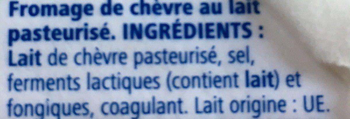 Fromage de chevre - Ingrediënten - fr