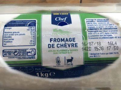 Fromage de chevre - Voedingswaarden - fr