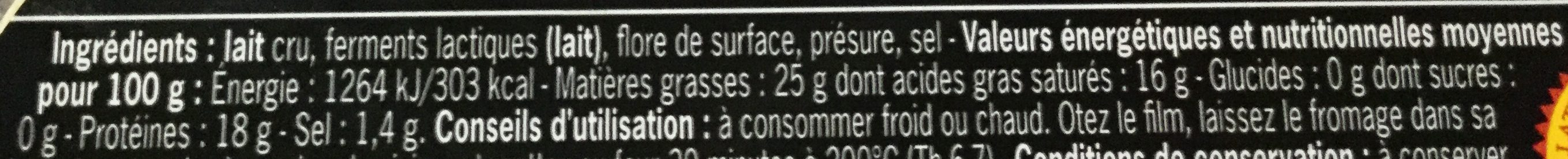 Mont d or - Nutrition facts