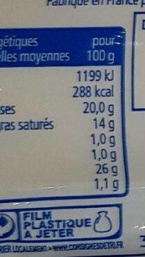 Mozzarella pain - Nutrition facts - fr