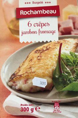 6 crêpes jambon fromage - Produit - fr