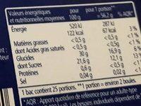 Sorbet passion - Informations nutritionnelles