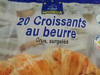 20 croissants au beurre crus surgelés - Product - fr