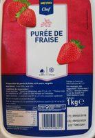 Purée de fraises - Product