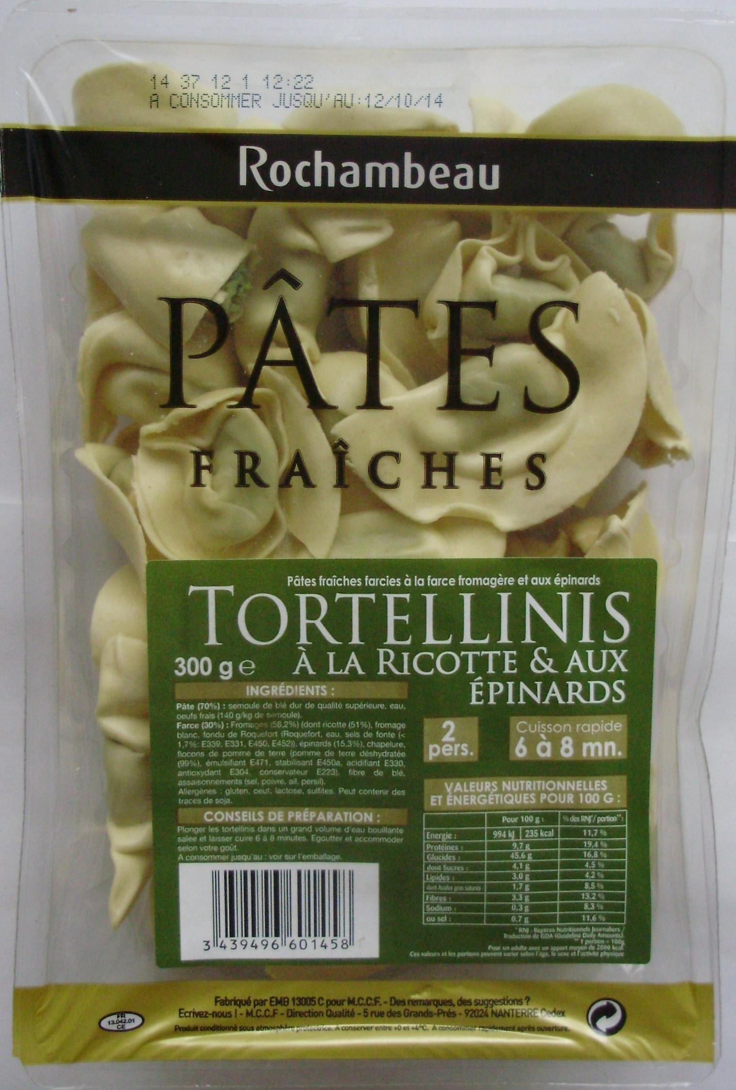 Tortellinis à la ricotte & aux épinards - Product