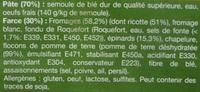 Tortellinis à la ricotte & aux épinards - Ingrediënten