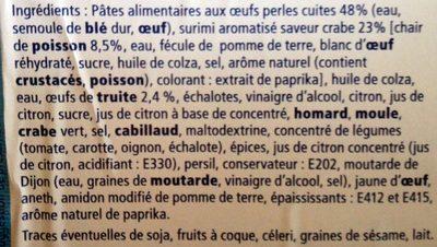 Salade de Perles Marines - Ingrédients - fr