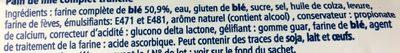 Pain de Mie Complet - Ingrediënten - fr