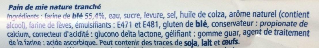 Pain de mie - Ingredienti - fr