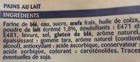 Pains au lait - Ingredients - fr