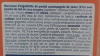 Poulet curry coco - Zutaten - fr