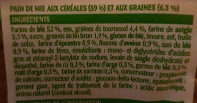 Pain de mie aux céréales et aux graines - Ingrediënten - fr