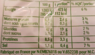 Pain de mie aux céréales et aux graines - Voedingswaarden - fr