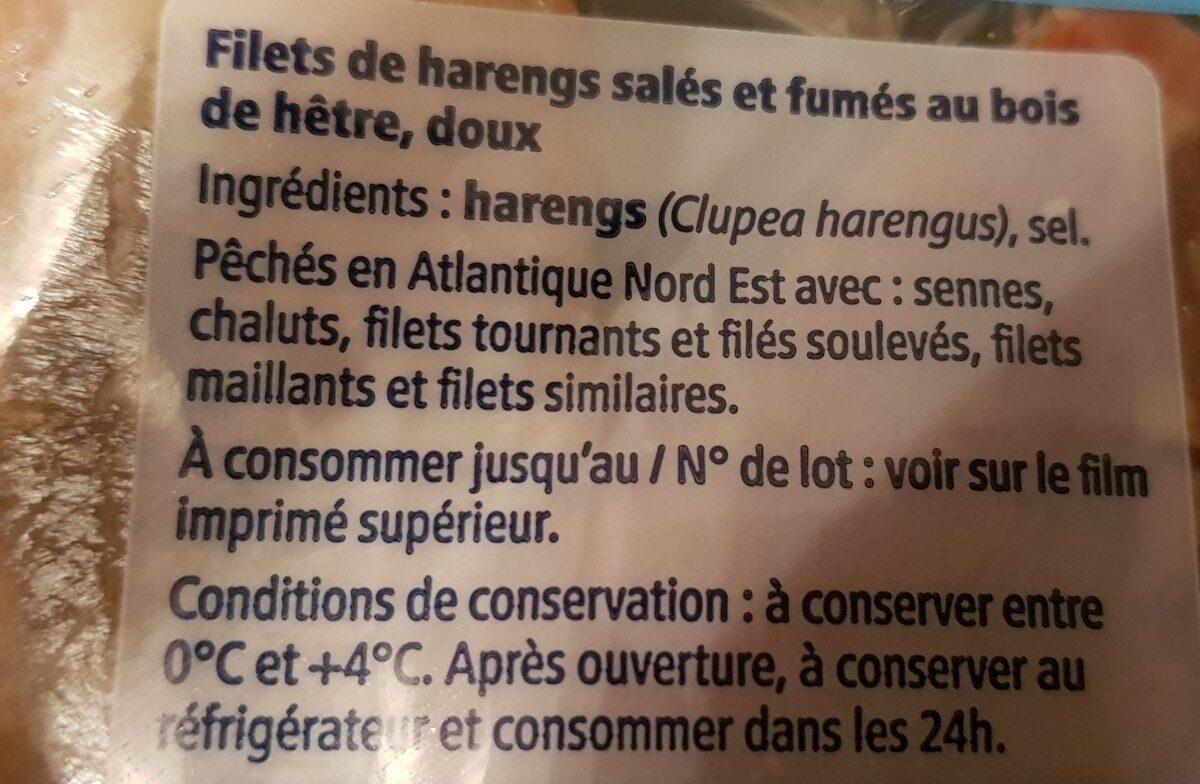 Filets de harengs doux - Ingrediënten - fr
