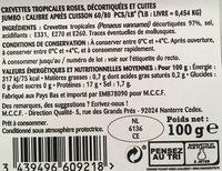 Crevettes tropicales - Ingredienti - fr