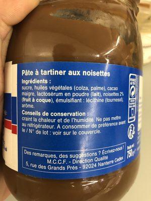 Pate a tartiner - Ingrédients - fr