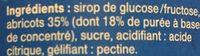 Confiture abricots - Ingrédients - fr